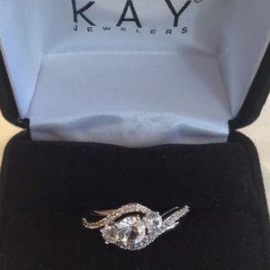 Kay Jewelers White Sapphire Ring